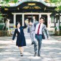 人懐っこくて愛らしい洋装スーツでの5歳男の子の七五三(出張撮影/東京・北区)
