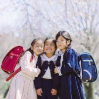 女の子3人組のランドセル撮影